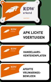 RDW ERKEND TILBURG APK ONDERHOUD AVOND KEURING VOERTUIGEN HANDELAAR KENTEKENPLAAT